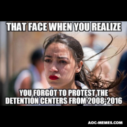 AoC Detention Camps protest Obama meme