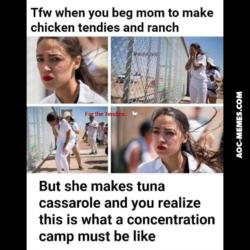 Alexandria Ocasio Cortez Immigrant camp meme