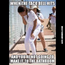 AoC prison camp taco bell white pants meme