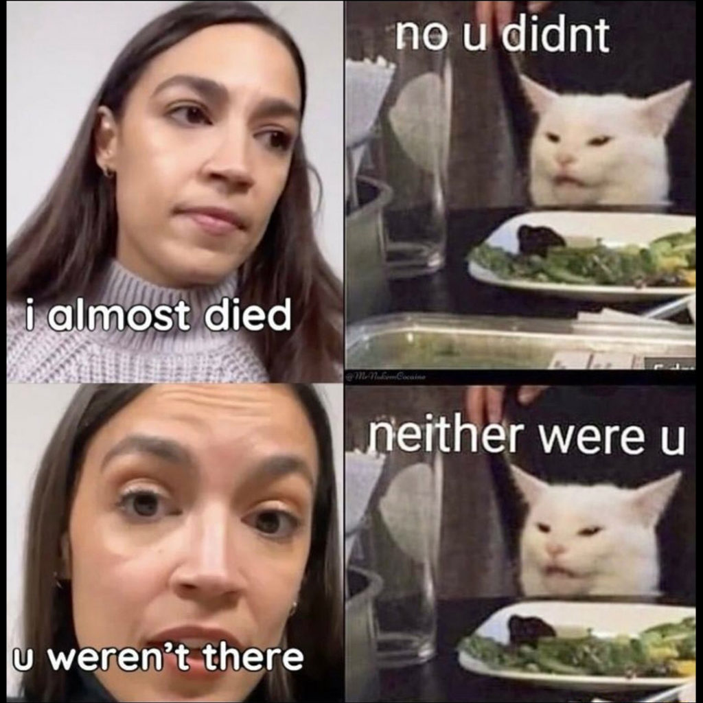 The cat says AOC is lying